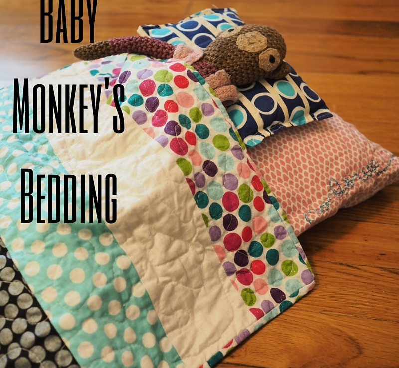 FO Friday – Baby Monkey's Bedding