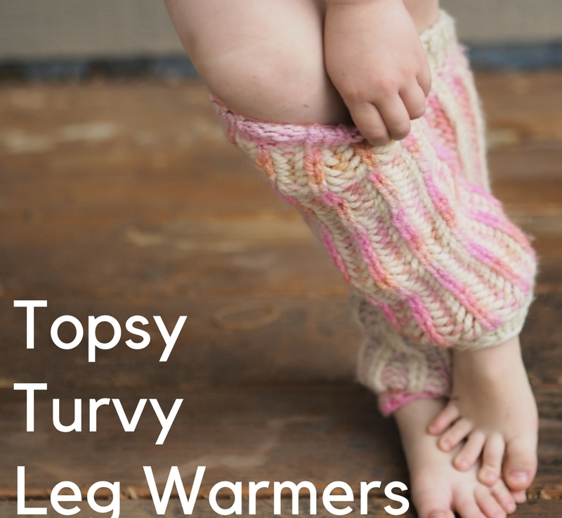 FO Friday: Topsy Turvy Leg Warmers